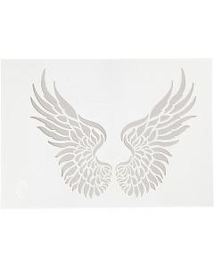Stencil, vinger, A4, 210x297 mm, 1 stk.