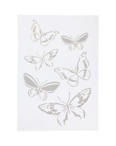 Stencil, sommerfugle, A4, 210x297 mm, 1 stk.