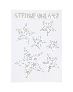 Stencil, stjerneglans, A4, 210x297 mm, 1 stk.
