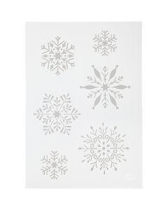 Stencil, snefnug, A4, 210x297 mm, 1 stk.