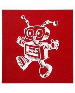 Screen stencil, robot, 20x22 cm, 1 ark