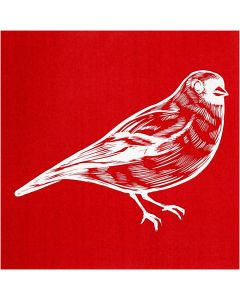 Screen stencil, fugl, 20x22 cm, 1 ark