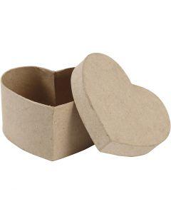 Hjerteæske, H: 6 cm, str. 11,5x11,5 cm, 1 stk.