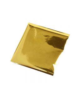 Dekorationsfolie, 10x10 cm, guld, 30 ark/ 1 pk.