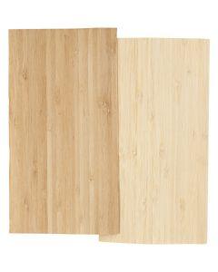 Bambusfinér, 12x22 cm, tykkelse 0,75 mm, 2 ark/ 1 pk.