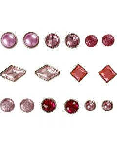 Dekonitter, str. 8-18 mm, pink, 16 stk./ 1 pk.