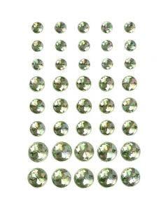 Rhinsten, str. 6+8+10 mm, grøn, 40 stk./ 1 pk.