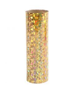 Dekorationsfolie, B: 15,5 cm, guld, 50 cm/ 1 rl.