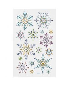 Diamond stickers, iskrystaller, 10x16 cm, 1 ark