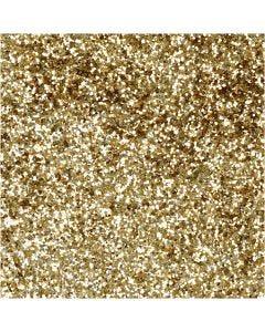 Bio-glimmer, diam. 0,4 mm, guld, 10 g/ 1 ds.
