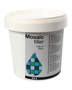 Mosaikfiller, sort, 1000 ml/ 1 spand