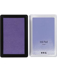 Stempelpude, H: 2 cm, str. 9x6 cm, violet, 1 stk.