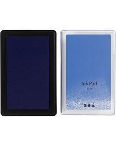 Stempelpude, H: 2 cm, str. 9x6 cm, blå, 1 stk.