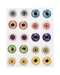 3D Øjne, diam. 20 mm, 1 ark