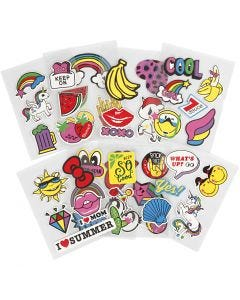 Soft Stickers, 12,2x17,75 cm, 8 ark/ 1 pk.