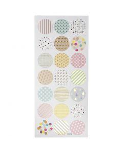 Stickers, pastel, 10x23 cm, 1 ark