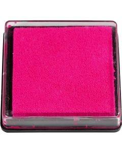Stempelpude, str. 40x40 mm, pink, 1 stk.