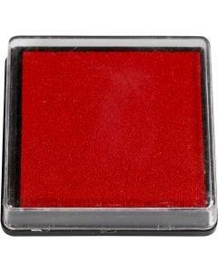 Stempelpude, str. 40x40 mm, rød, 1 stk.