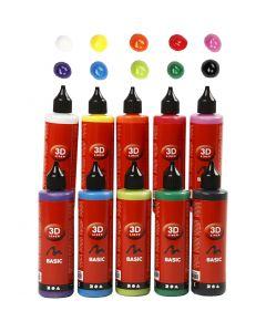 3D Liner, ass. farver, 10x100 ml/ 1 pk.