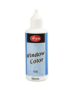 Viva Decor Window Color, hvid, 80 ml/ 1 fl.
