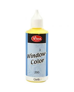 Viva Decor Window Color, gul, 80 ml/ 1 fl.