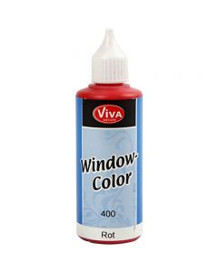 Viva Decor Window Color, rød, 80 ml/ 1 fl.