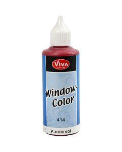 Viva Decor Window Color, karminrød, 80 ml/ 1 fl.