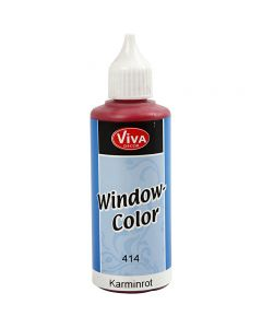Viva Decor Window Color, karminrød, 80 ml/ 1 fl.