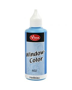 Viva Decor Window Color, lyseblå, 80 ml/ 1 fl.