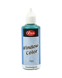 Viva Decor Window Color, mørk grøn, 80 ml/ 1 fl.