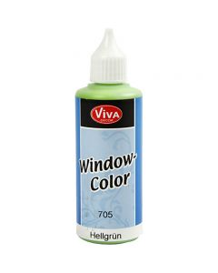 Viva Decor Window Color, lys grøn, 80 ml/ 1 fl.
