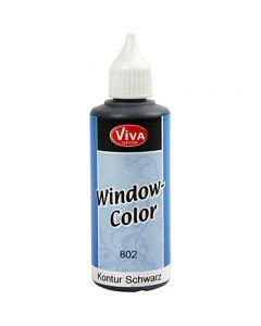 Viva Decor Window Color - konturfarve, sort, 80 ml/ 1 fl.