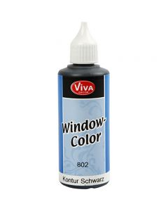 Viva Decor Window Color - konturfarve, sort, 80 ml/ 1 fl.