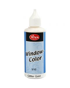 Viva Decor Window Color, guld glitter, 80 ml/ 1 fl.
