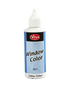 Viva Decor Window Color, sølv glitter, 80 ml/ 1 fl.