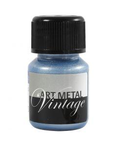 Art Metal maling, perleblå, 30 ml/ 1 fl.