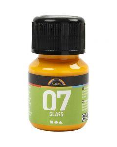 A-Color Glass, gul, 30 ml/ 1 fl.