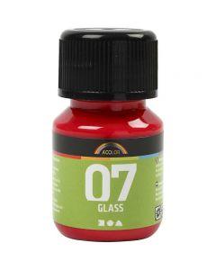 A-Color Glass, rød, 30 ml/ 1 fl.