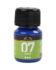 A-Color Glass, brilliant blå, 30 ml/ 1 fl.