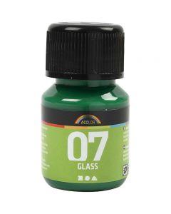 A-Color Glass, brilliantgrøn, 30 ml/ 1 fl.
