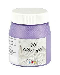 3D Glass gel, syren, 250 ml/ 1 ds.