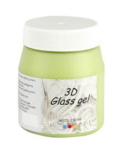 3D Glass gel, lys grøn, 250 ml/ 1 ds.
