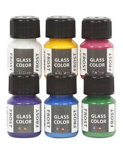 Glass Color Frost, ass. farver, 6x30 ml/ 1 pk.