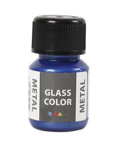 Glass Color Metal, blå, 30 ml/ 1 fl.