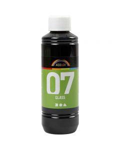 A-Color Glass, sort, 250 ml/ 1 fl.