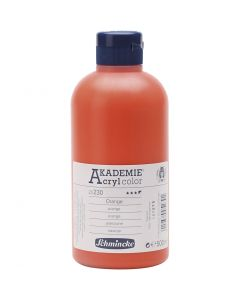 Schmincke AKADEMIE® Acryl color, halvtransparent, orange (230), 500 ml/ 1 fl.