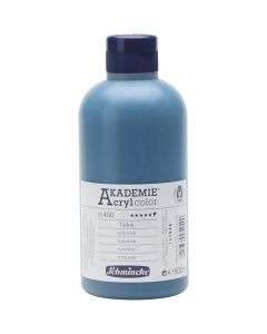 Schmincke AKADEMIE® Acryl color, halvtransparent, turquoise (450), 500 ml/ 1 fl.