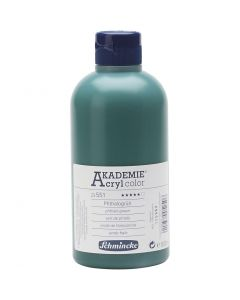Schmincke AKADEMIE® Acryl color, transparent, phthalo green (551), 500 ml/ 1 fl.