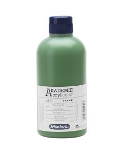 Schmincke AKADEMIE® Acryl color, halvtransparent, leaf green (552), 500 ml/ 1 fl.