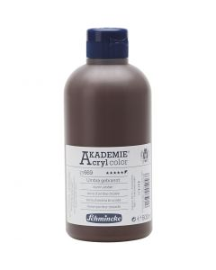 Schmincke AKADEMIE® Acryl color, dækkende, burnt umber (669), 500 ml/ 1 fl.